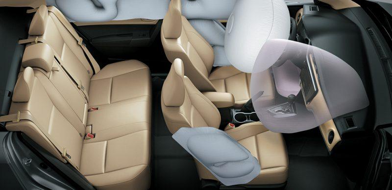 Hệ thống túi khí xe Corolla 2019