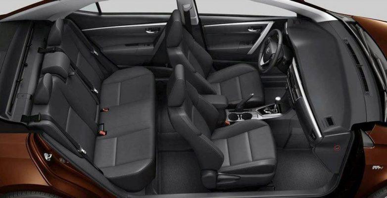 Bố trí hệ thống ghế trên Corolla Altis 2019